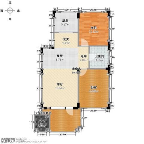 澳海西湖印象1室0厅1卫1厨82.00㎡户型图