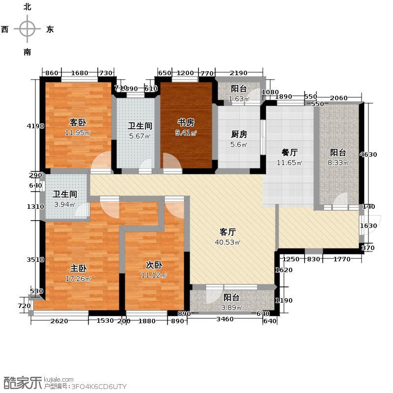 名流印象138.55㎡户型10室