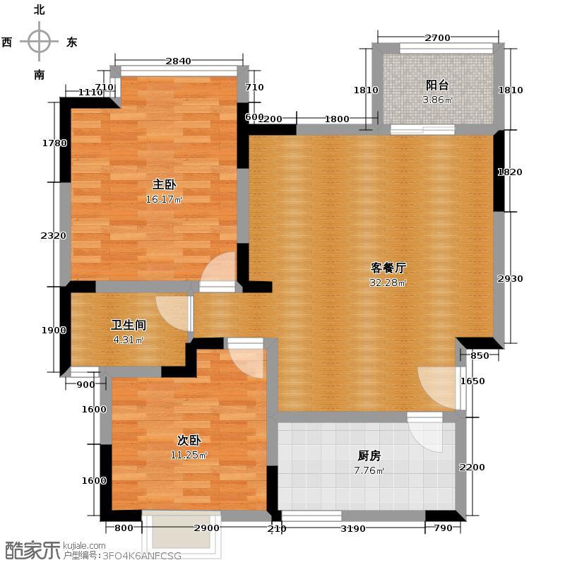 金控金融中心86.12㎡户型10室