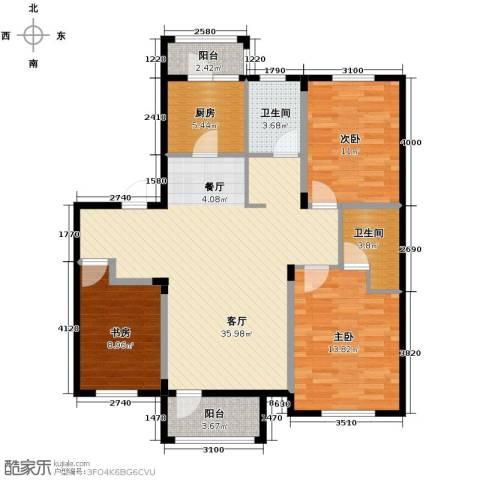 沿湖城2室2厅2卫0厨109.00㎡户型图