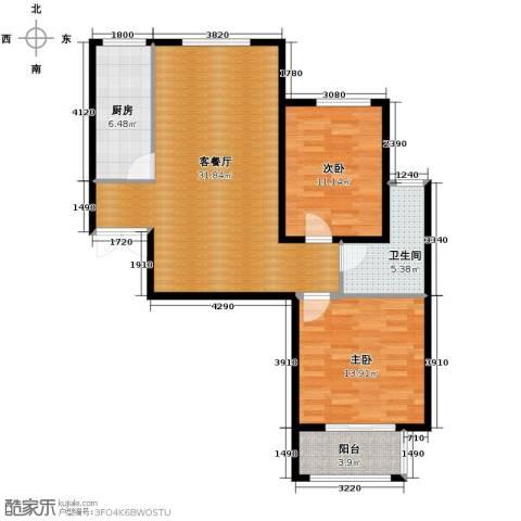 国仕山2室2厅1卫0厨109.00㎡户型图