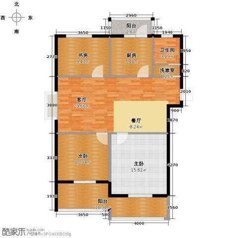大丰水岸鑫城3室1厅1卫1厨100.00㎡户型图