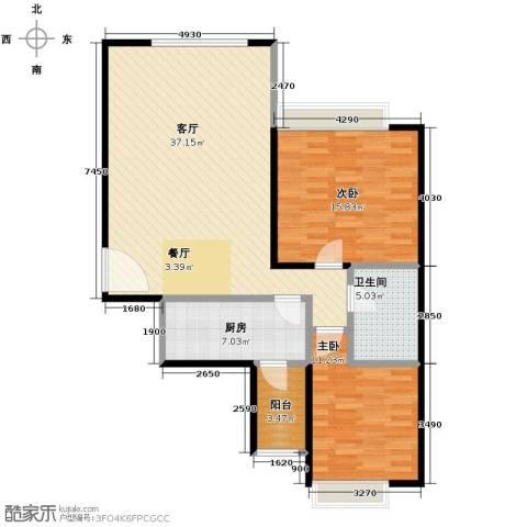 沈阳天地2室2厅1卫0厨116.00㎡户型图