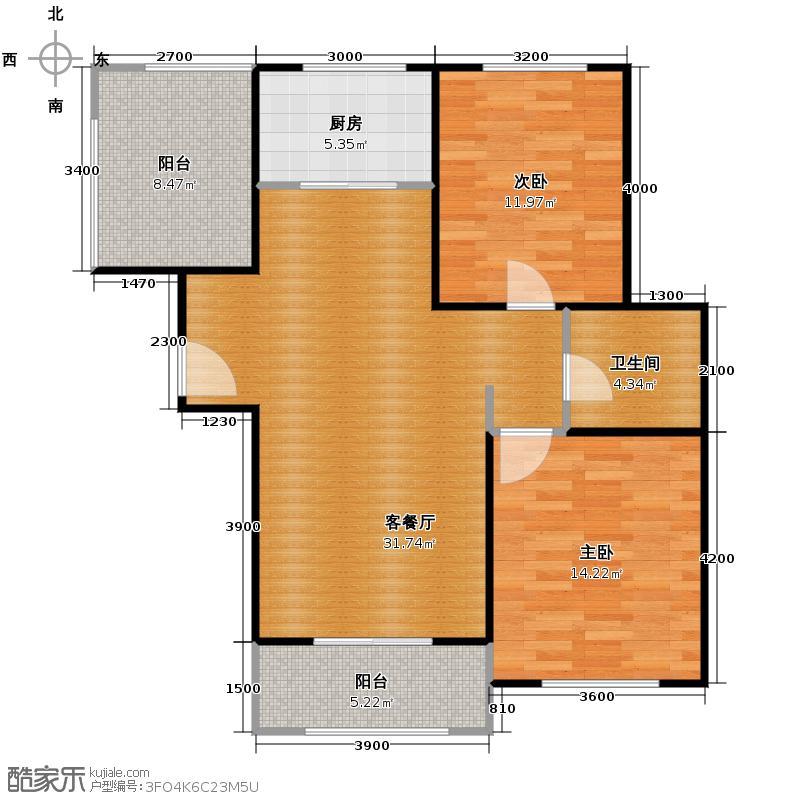 复地连城国际75.00㎡房型户型10室