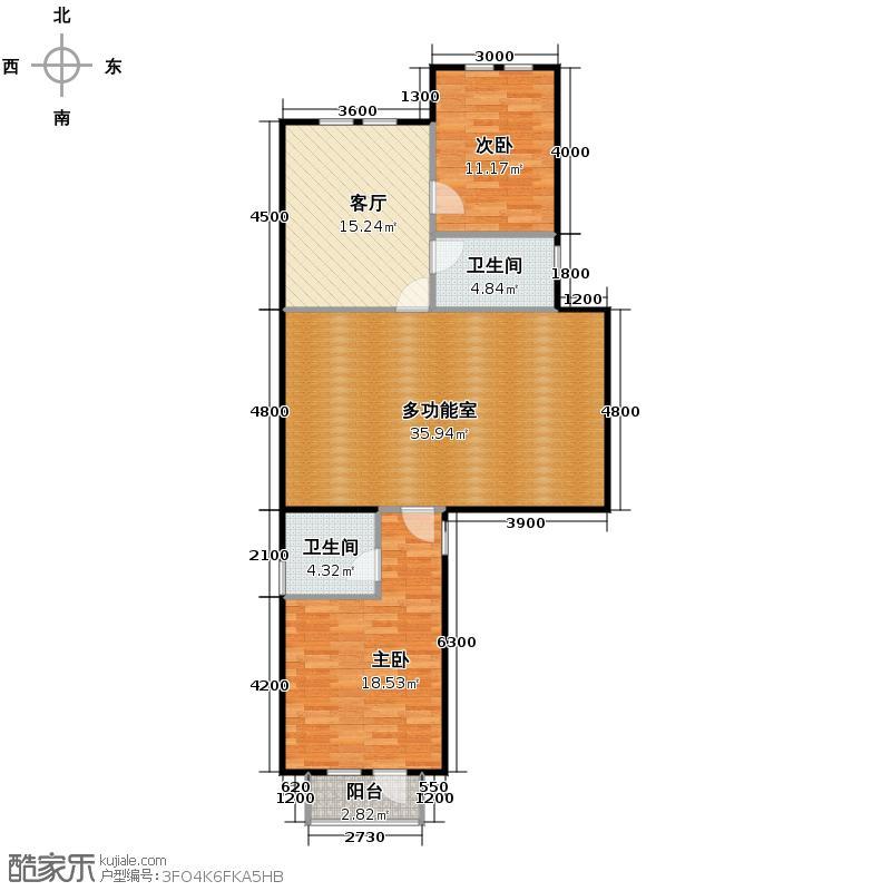 大运河孔雀城98.89㎡c2s三层户型10室