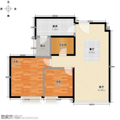 沈阳天地2室2厅1卫0厨102.00㎡户型图