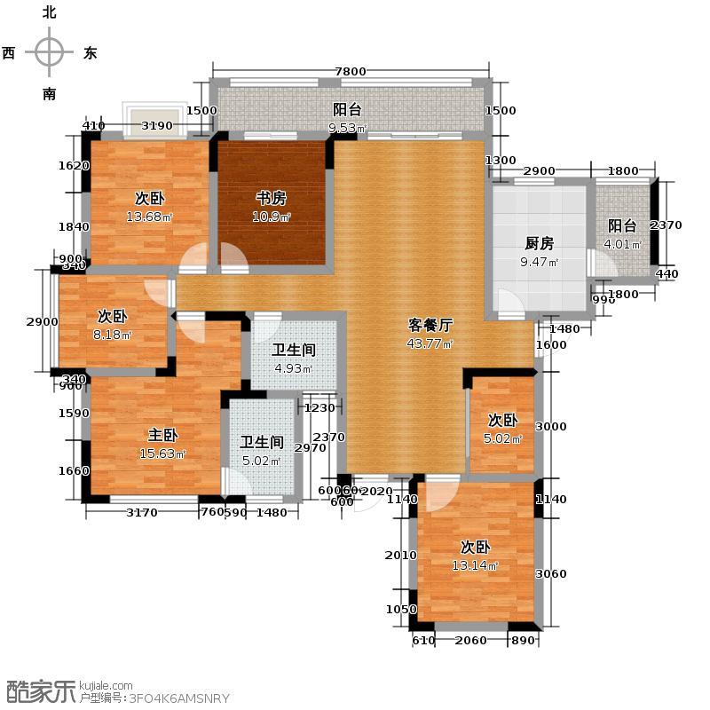 金控金融中心163.11㎡户型10室
