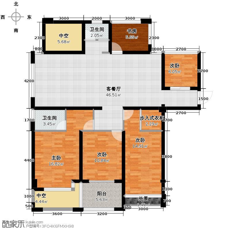玲珑府115.00㎡B1-2户型5室2厅2卫