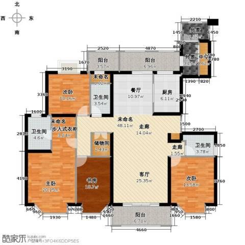 亚东观云国际公寓176.00㎡户型图