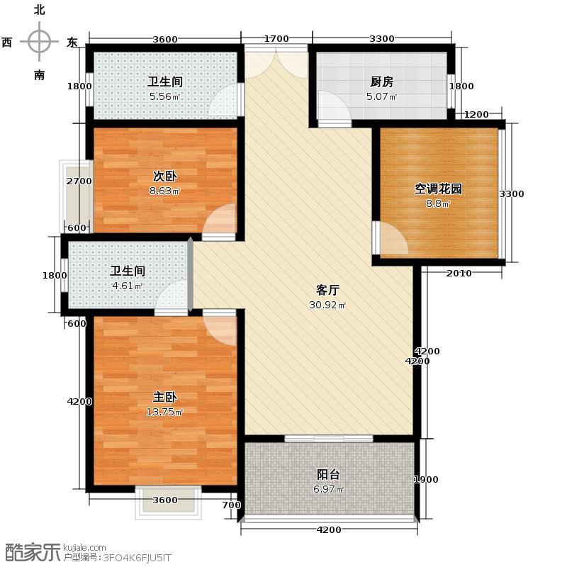 普华浅水湾110.00㎡H+空中花园主卧朝南42米客厅超宽阳台变户型10室