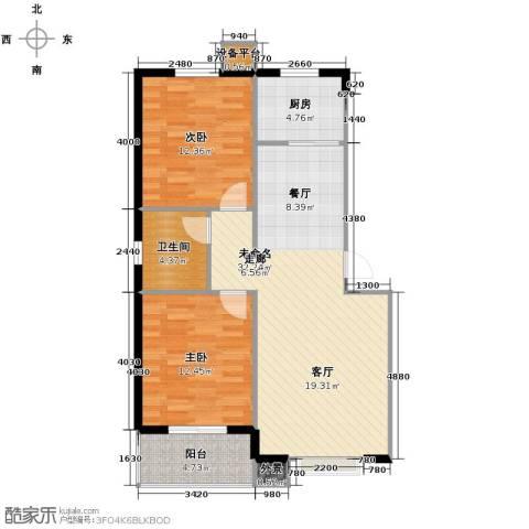 天冠城2室2厅1卫0厨89.00㎡户型图