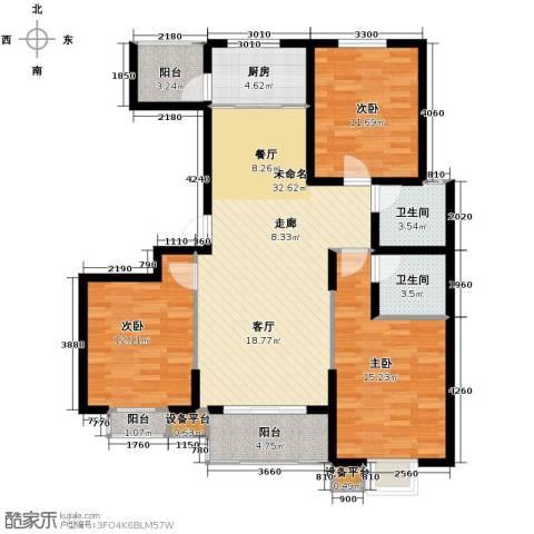 天冠城3室2厅2卫0厨119.00㎡户型图
