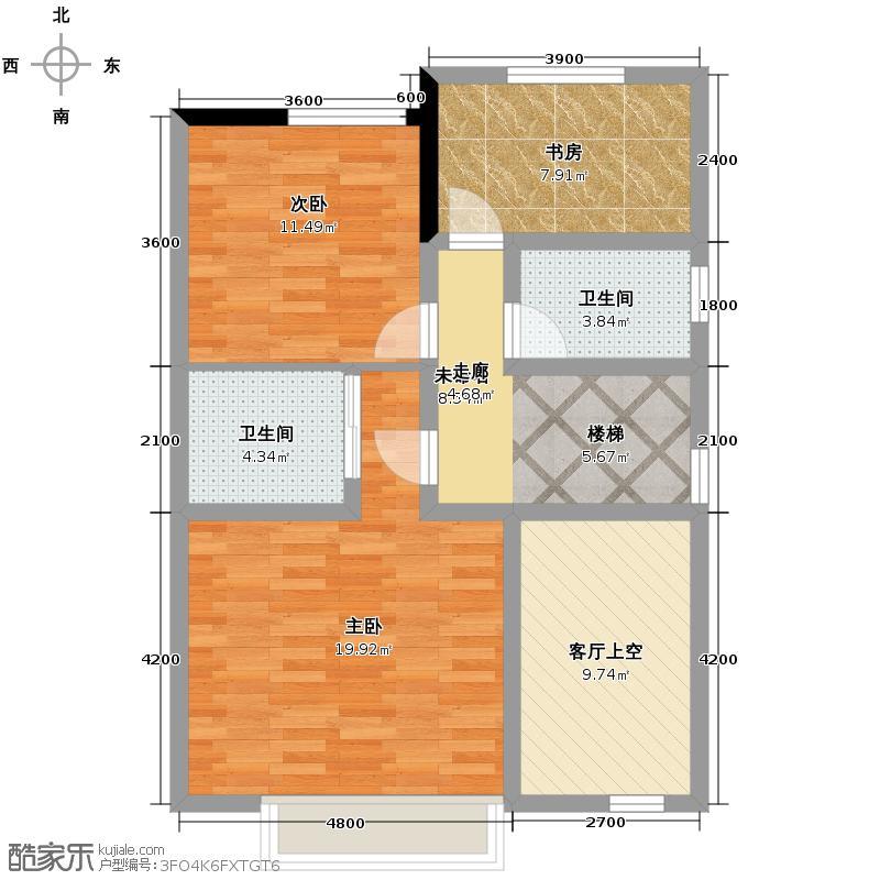 金瑞城市风景178.00㎡G二层效果1户型4室2厅2卫