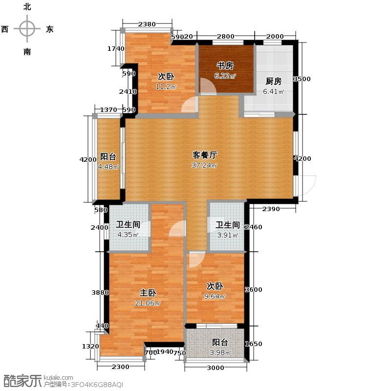 圣奥领寓137.00㎡C1a户型4室2厅2卫
