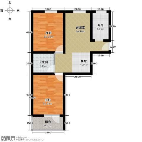 华庭欢乐颂2室2厅1卫0厨79.00㎡户型图