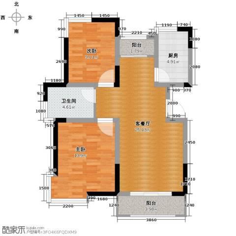卓达三溪塘2室2厅1卫0厨95.00㎡户型图