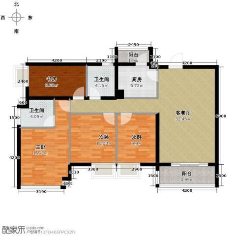 佛山万科广场4室2厅2卫0厨132.00㎡户型图
