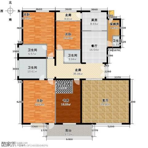 建投十号院5室2厅4卫0厨257.00㎡户型图
