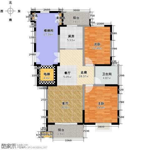 鸿雁名居2室0厅1卫1厨91.60㎡户型图
