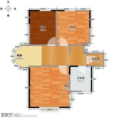 金泰丽舍3室2厅2卫0厨68.00㎡户型图