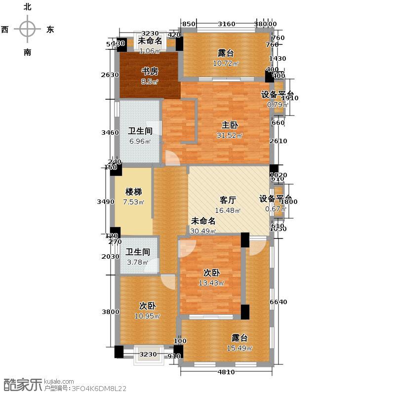 富力红树湾240.00㎡独栋D2层户型6室3厅3卫