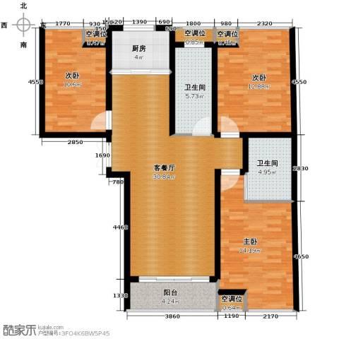 乐城半岛3室1厅2卫1厨119.00㎡户型图