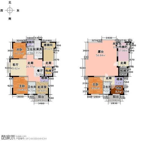 鸿雁名居4室1厅3卫1厨220.41㎡户型图
