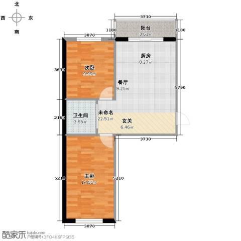 塞纳阳光2室1厅1卫0厨63.00㎡户型图