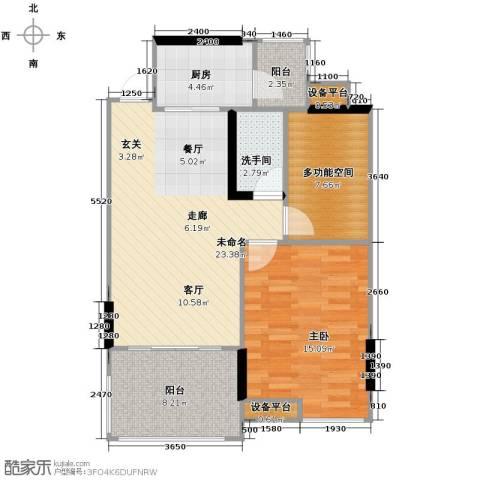 嘉景华庭1室0厅0卫1厨77.00㎡户型图