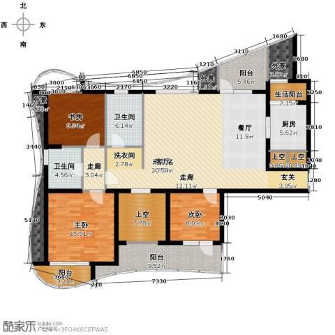 名流公馆4室2厅2卫0厨153.00㎡户型图