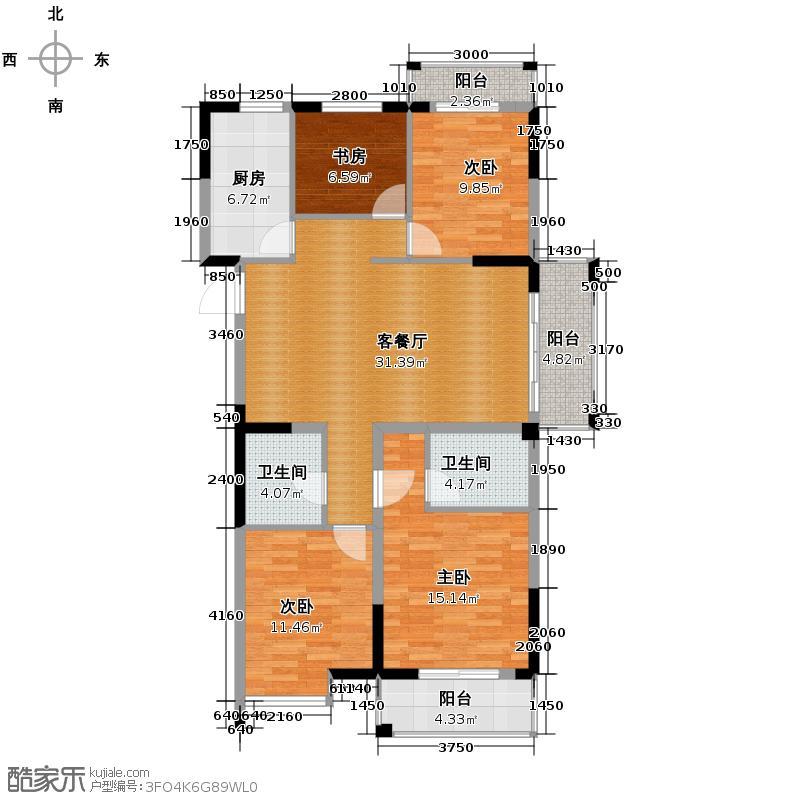 圣奥领寓130.00㎡户型10室
