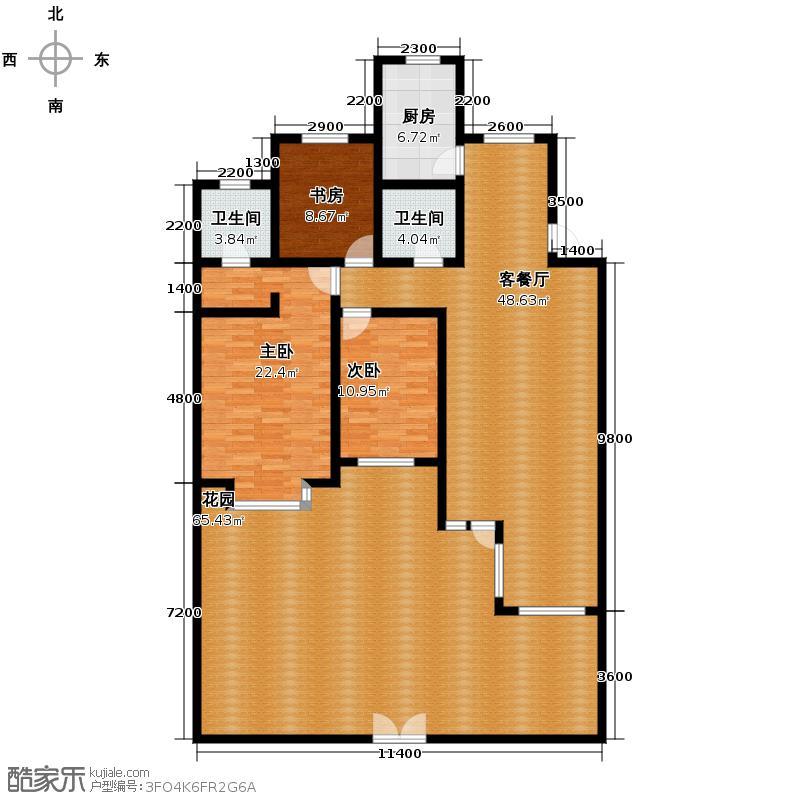 瑞赛居圣苑130.00㎡一层10、14#户型3室1厅2卫1厨