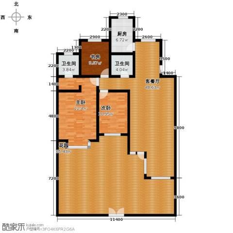 瑞赛居圣苑3室1厅2卫1厨170.67㎡户型图