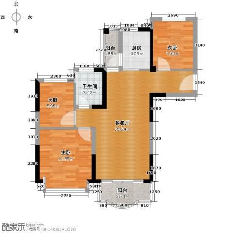 碧桂园城市花园4室2厅1卫0厨92.00㎡户型图