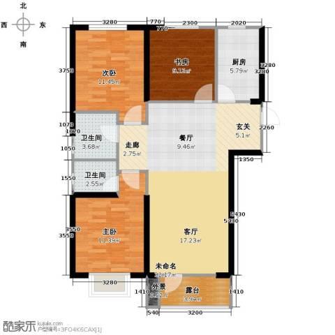 华府丹郡3室2厅2卫0厨112.00㎡户型图