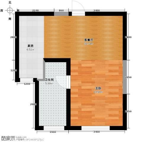 金泰丽舍1室1厅1卫0厨60.00㎡户型图