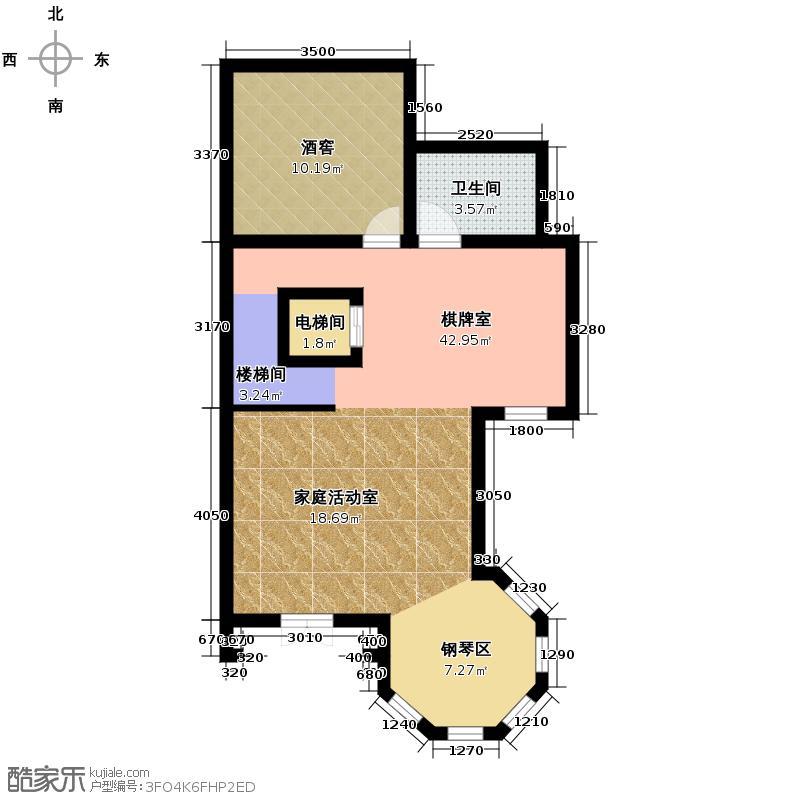 观澜墅191.27㎡克拉墅B下室平面图户型10室