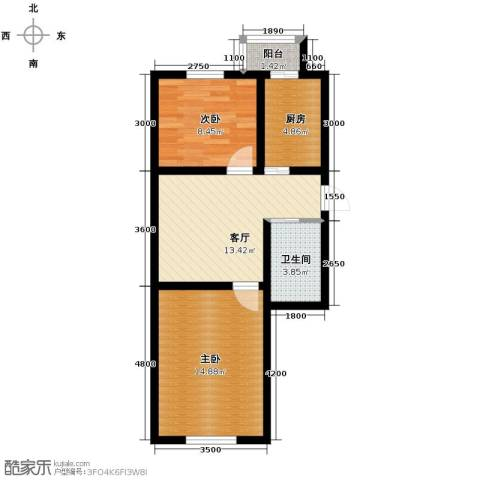 天润中华城2室1厅1卫0厨54.94㎡户型图