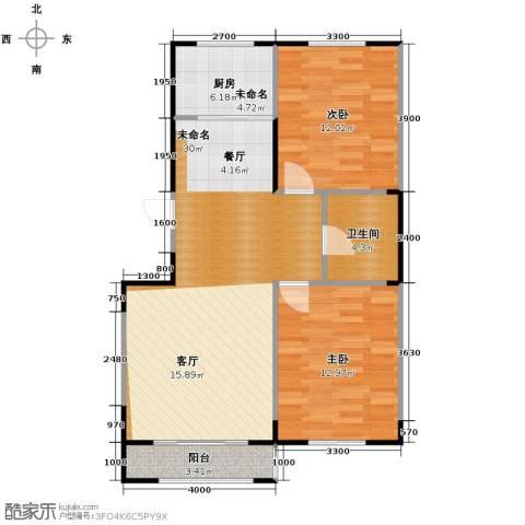 溪湖芳庭2室2厅1卫0厨99.00㎡户型图
