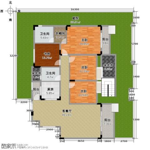 中铁山水一舍4室1厅2卫1厨238.32㎡户型图