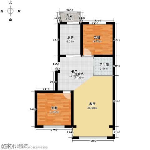 塞纳阳光2室2厅1卫0厨88.00㎡户型图