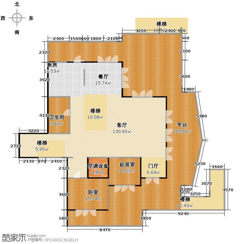 同方春江燕语413.83㎡S-E1层户型10室