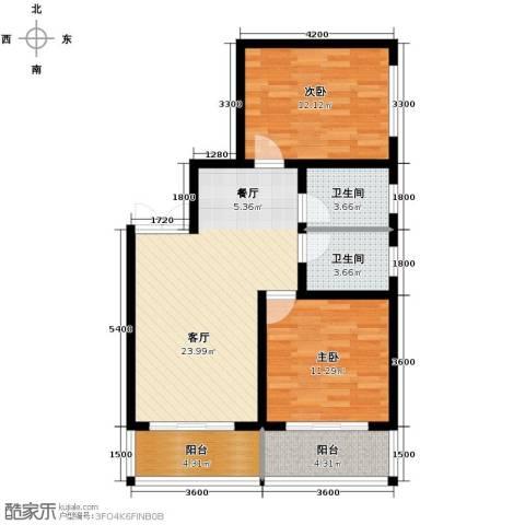 上水观园2室2厅1卫0厨96.00㎡户型图
