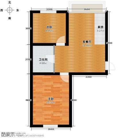 龙城富苑2室1厅1卫0厨72.00㎡户型图