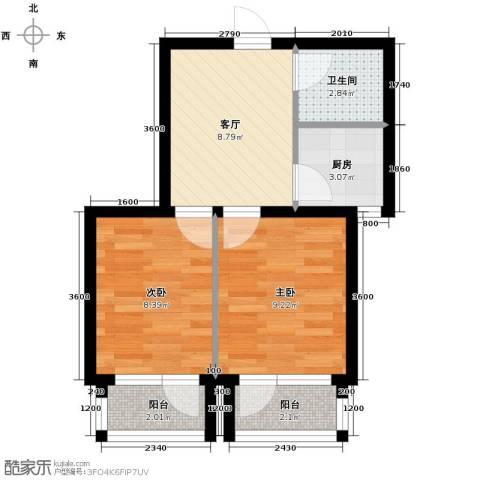 海伦堡2室1厅1卫0厨51.00㎡户型图