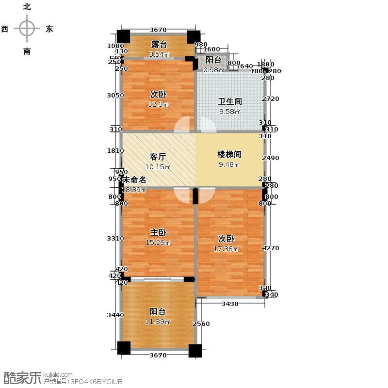 百家乐西园96.64㎡I二层户型10室