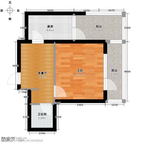 海伦堡1室1厅1卫0厨41.00㎡户型图