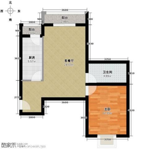凡尔赛公馆1室1厅1卫1厨67.00㎡户型图