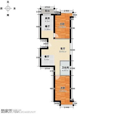 亿隆富贵名苑2室1厅1卫0厨76.11㎡户型图