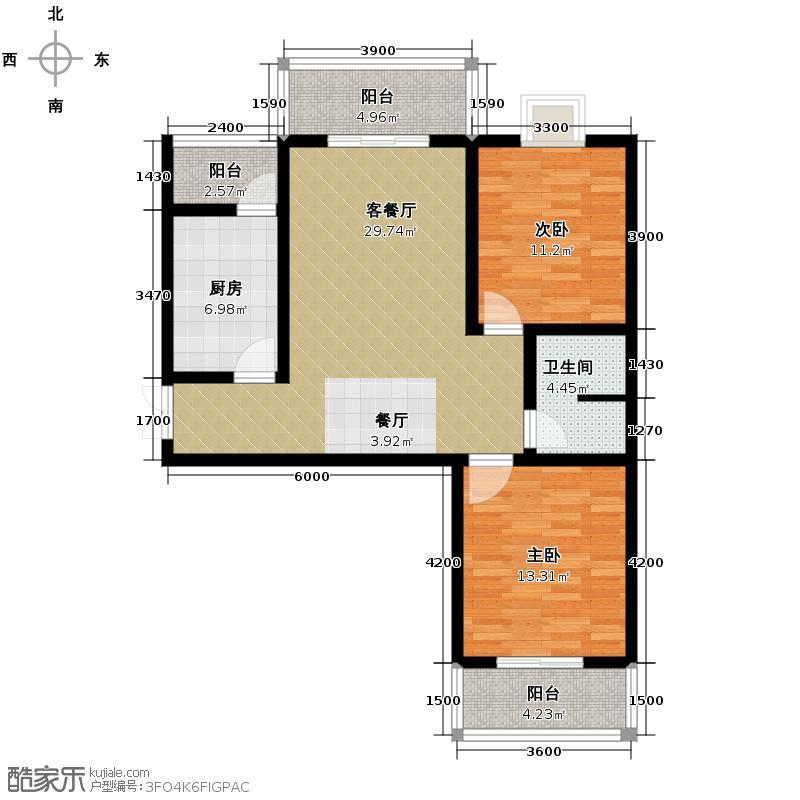 上水观园112.89㎡A户型2室2厅1卫